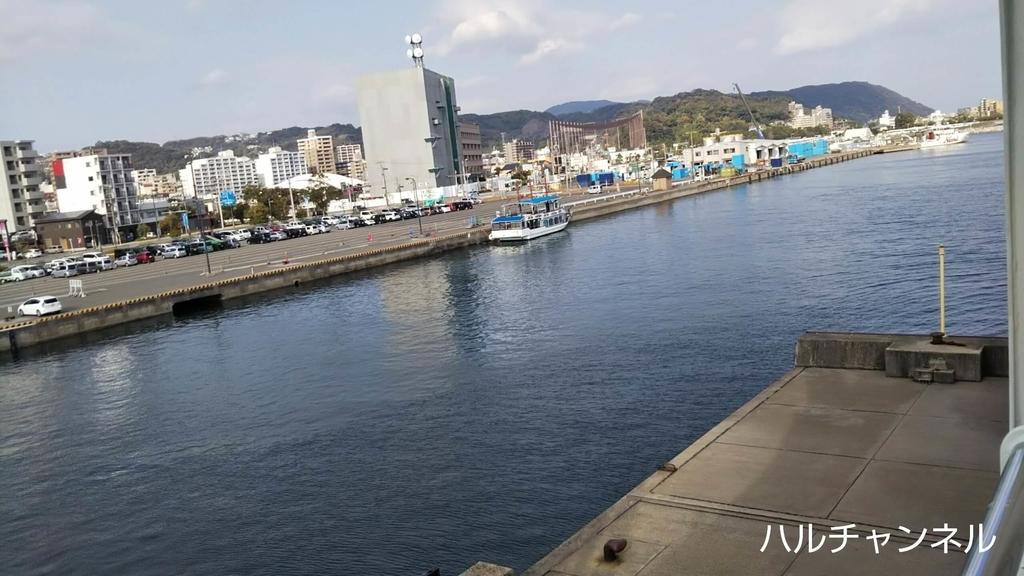 桜島フェリーから見た景色