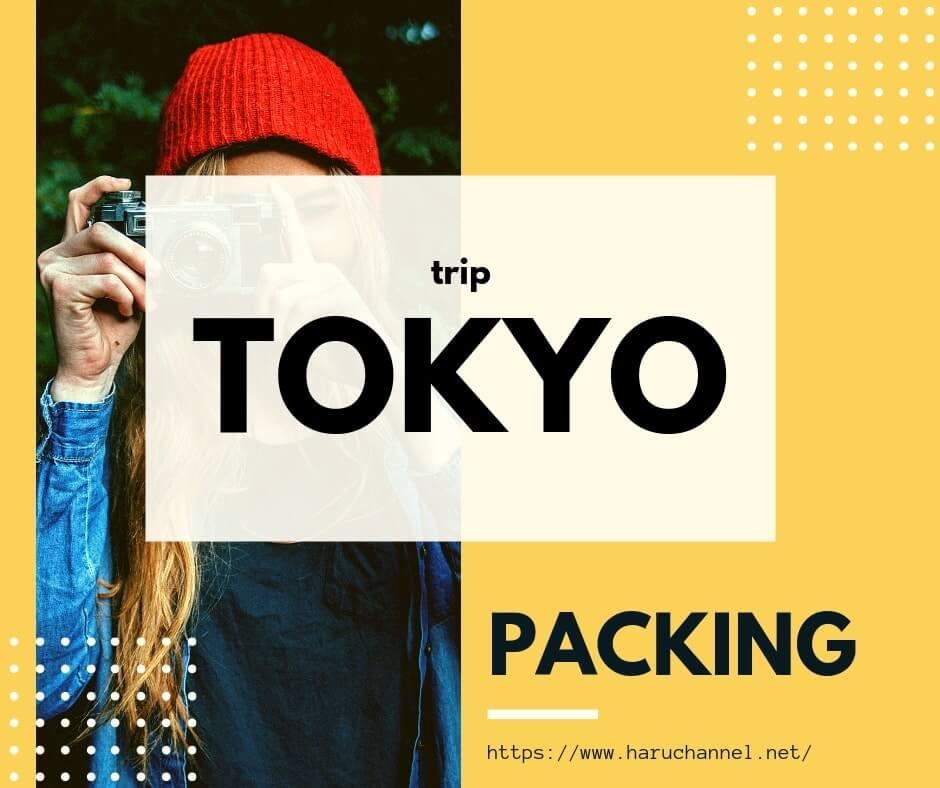 冬の東京へ旅行に1泊2日で行く時の荷物をご紹介!