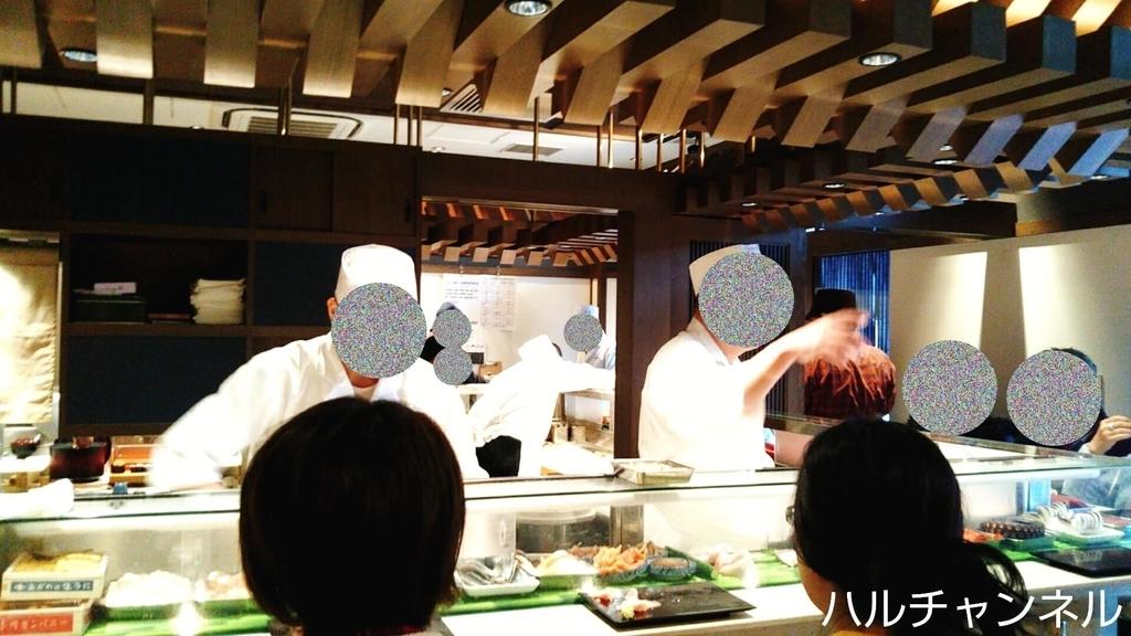 【豊洲市場】大和寿司のカウンターからの眺め