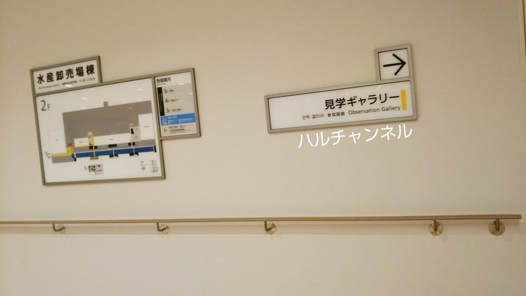 豊洲市場の場内はこっちだよ!の看板