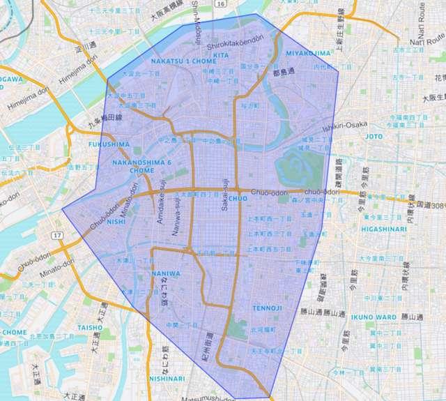UberEats(ウーバーイーツ)OsakaMAP