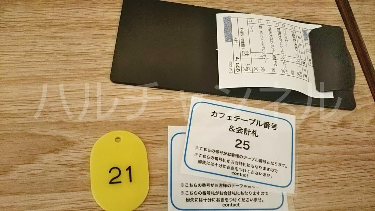 ジェネレーションズ高校TV学食(大阪)のお会計札&グッズ番号札