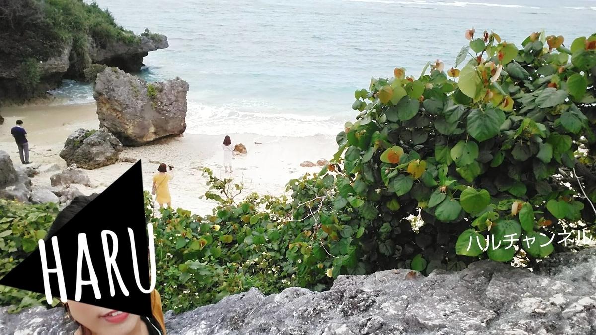 【沖縄】美ら海水族館「浜辺に降りてみるよーん」