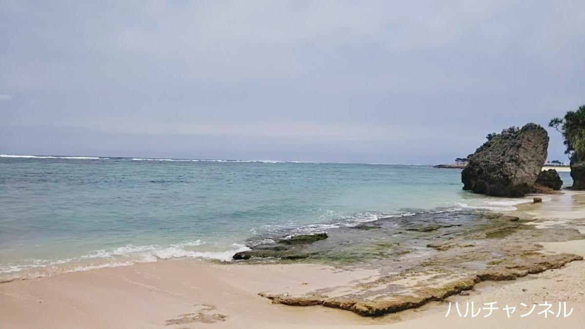 【沖縄】美ら海水族館「浜辺からの風景」