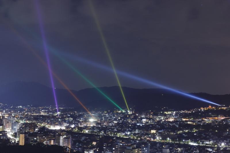 京都新聞写真コンテスト 京都夜景の五光