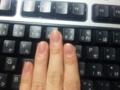 指眺めてたら爪切りたくなってパチンパチンしてたから白いとこがない