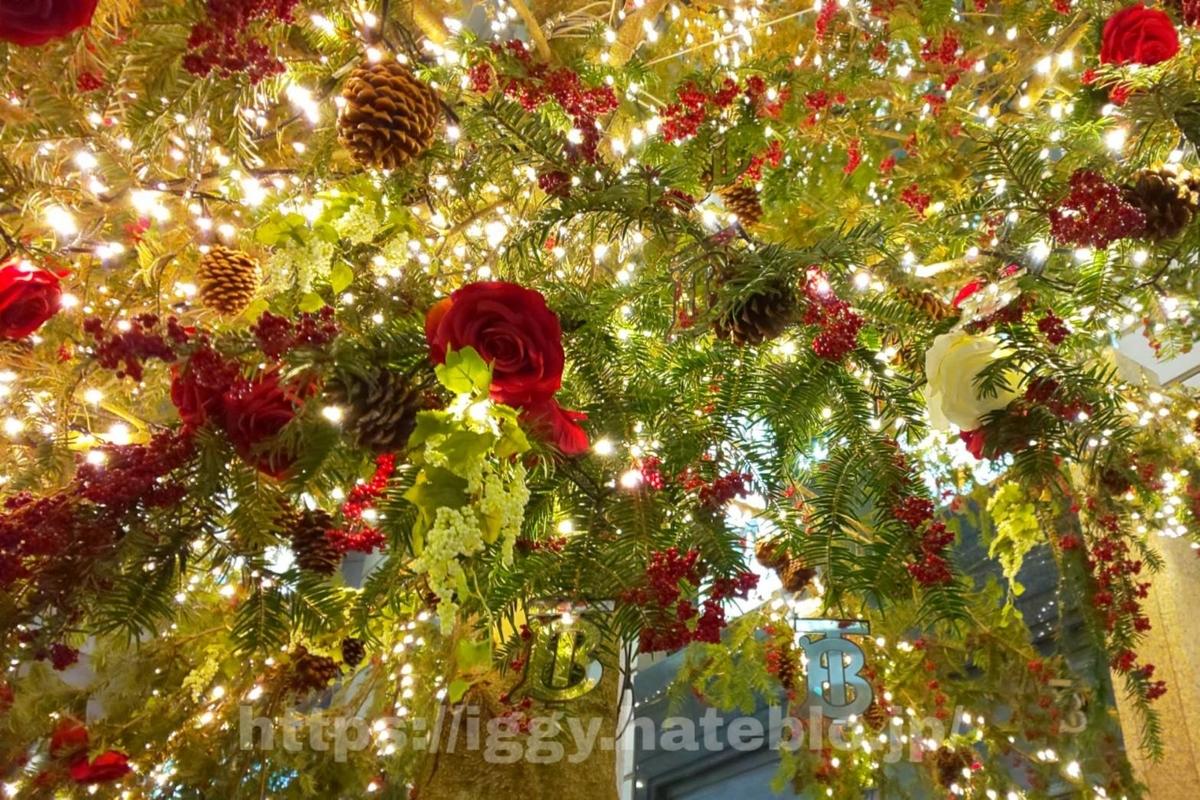 2019クリスマス 大丸 バラの花 iggy2019