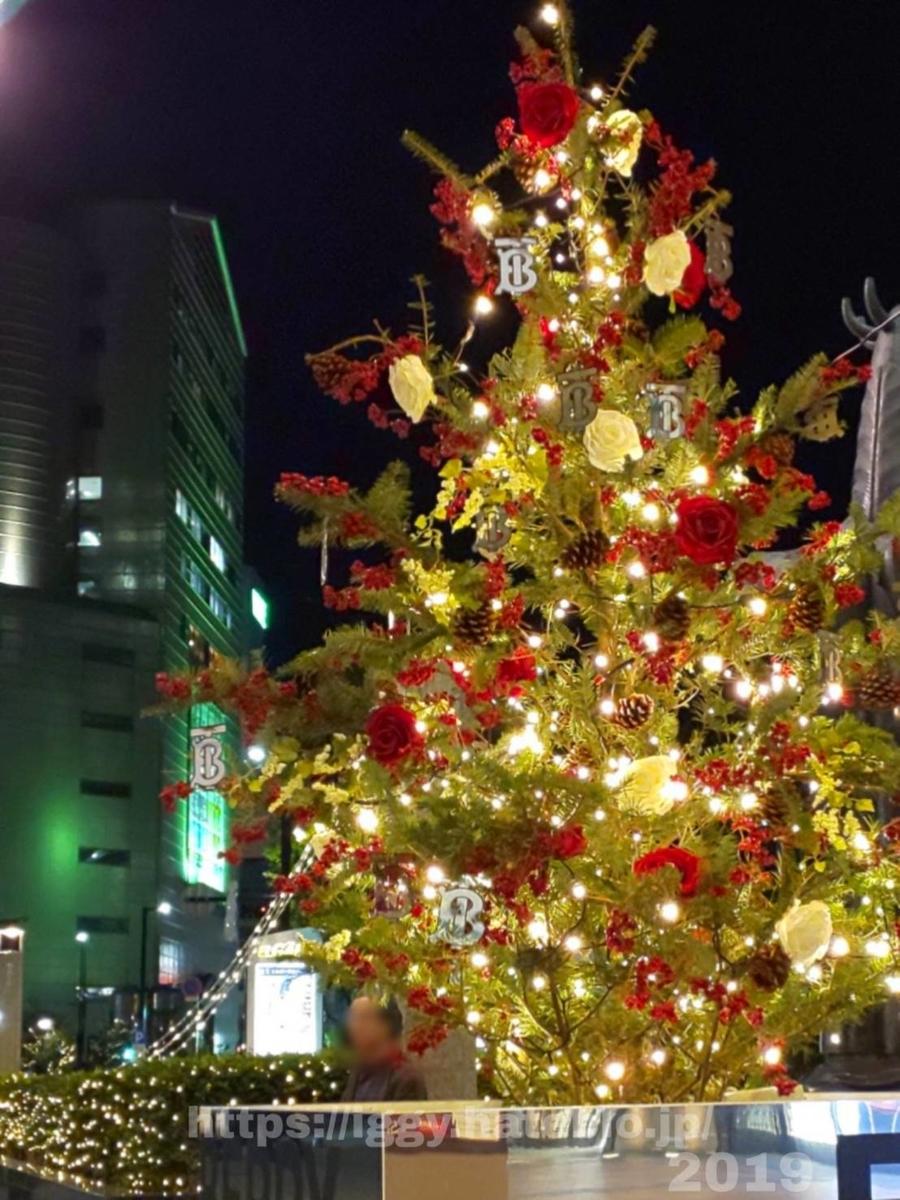 2019クリスマス 大丸ミニツリー iggy2019
