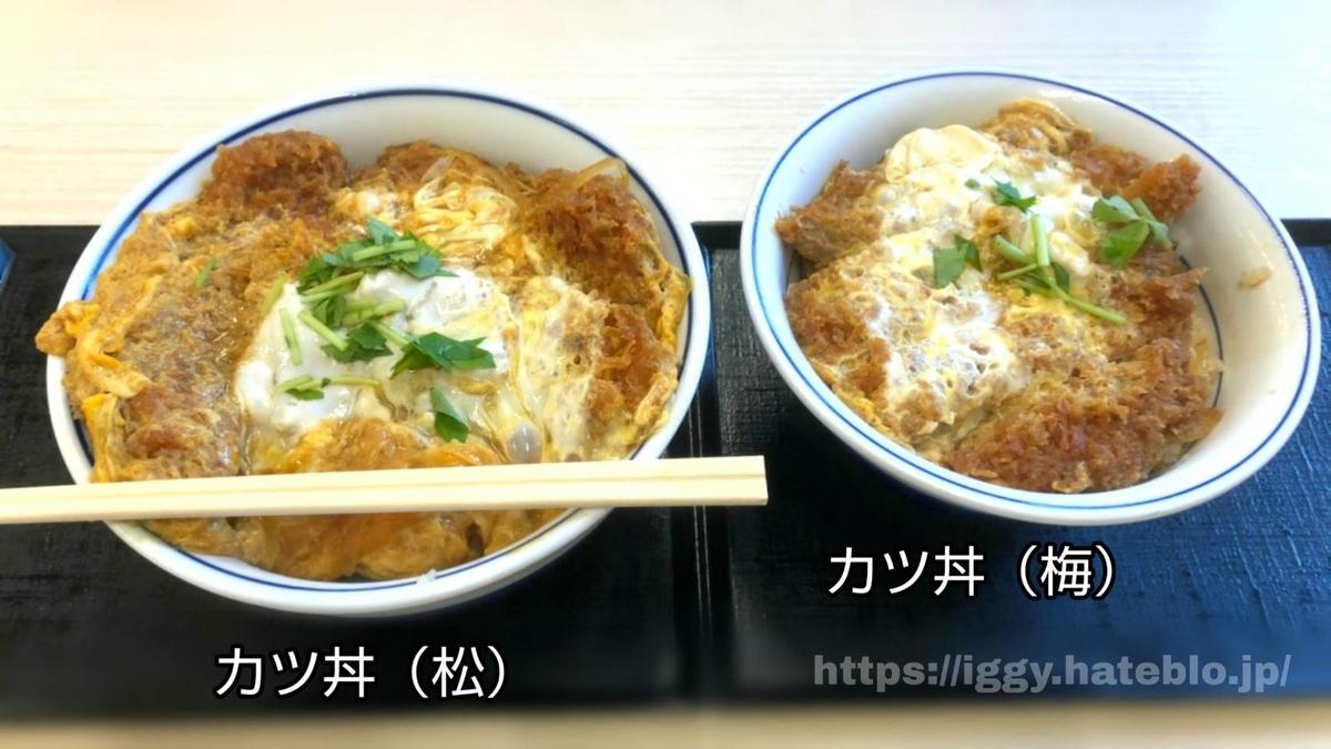 かつや カツ丼()と()比較 iggy2019