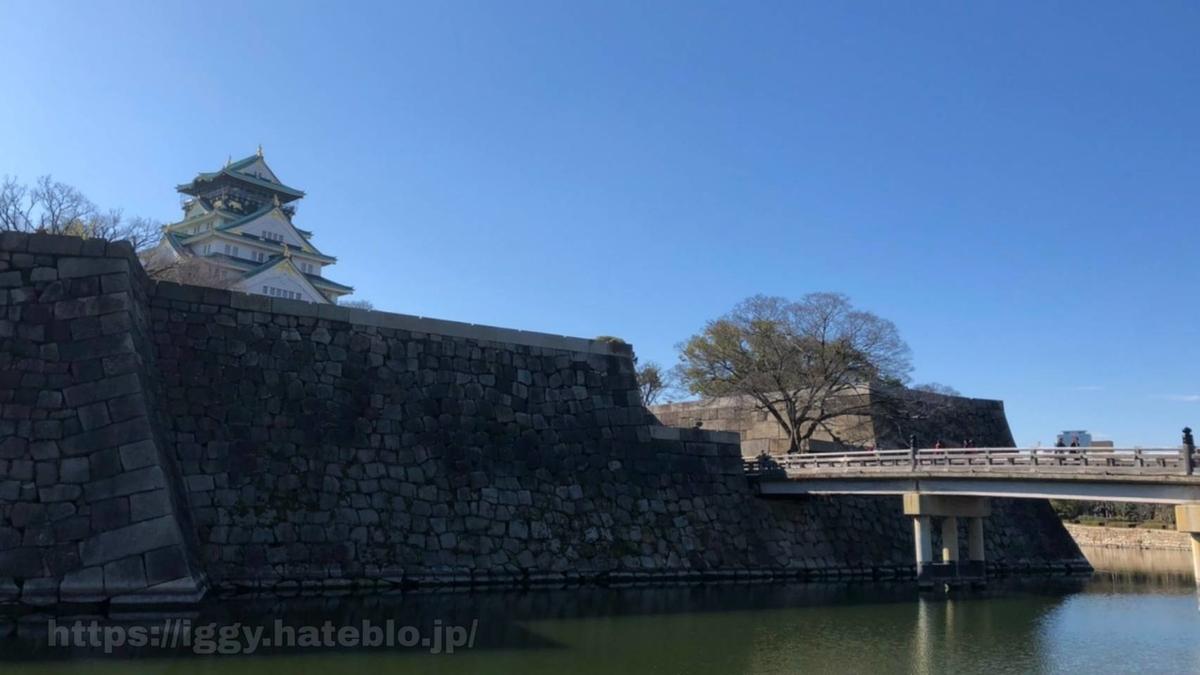大阪城 外堀と極楽橋 iggy2019