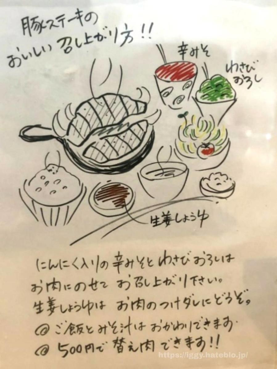 十一 豚ステーキ食べ方説明 iggy2019