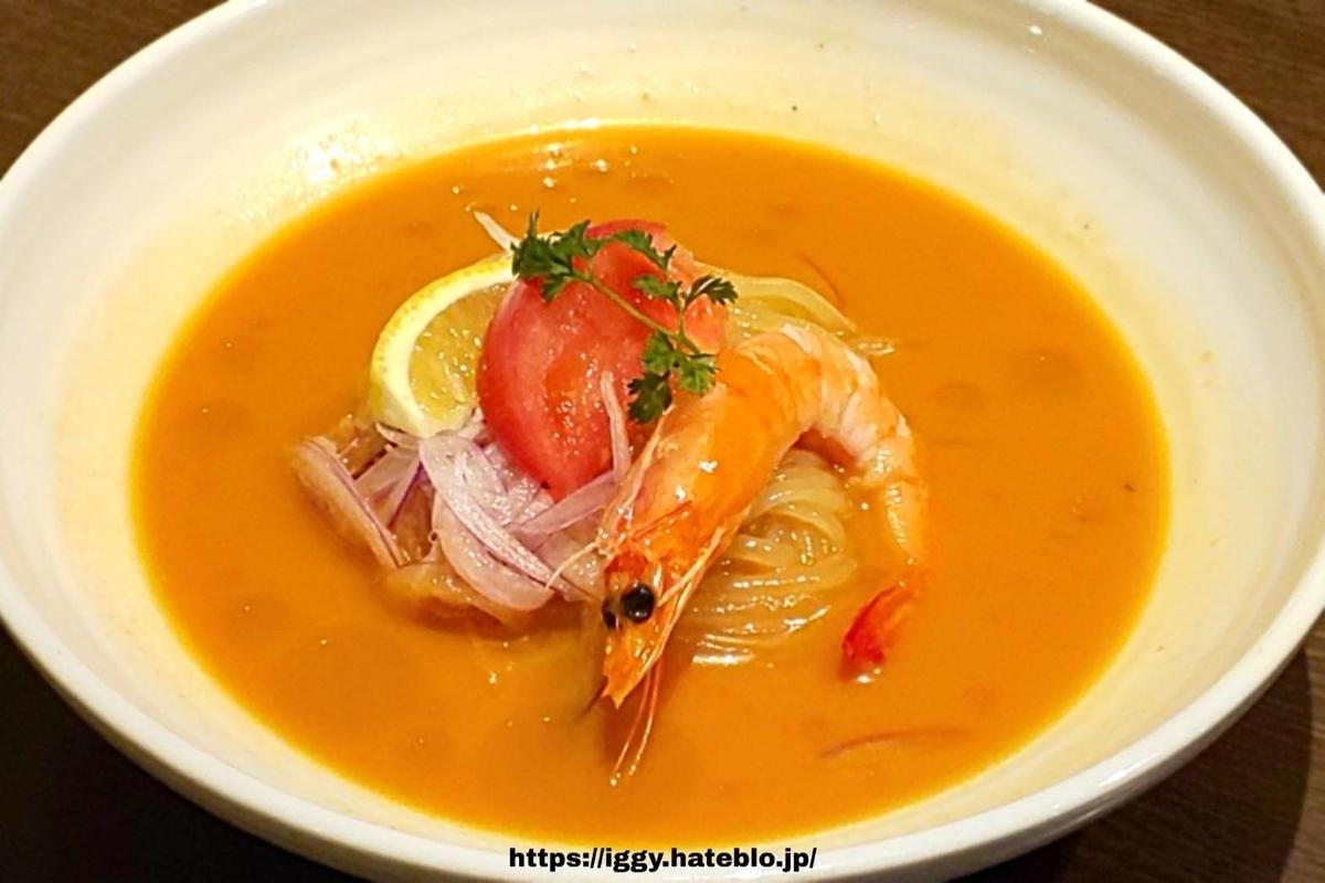 ワンカルビ 3種のハーブを効かせたトマト冷麺 iggy2019
