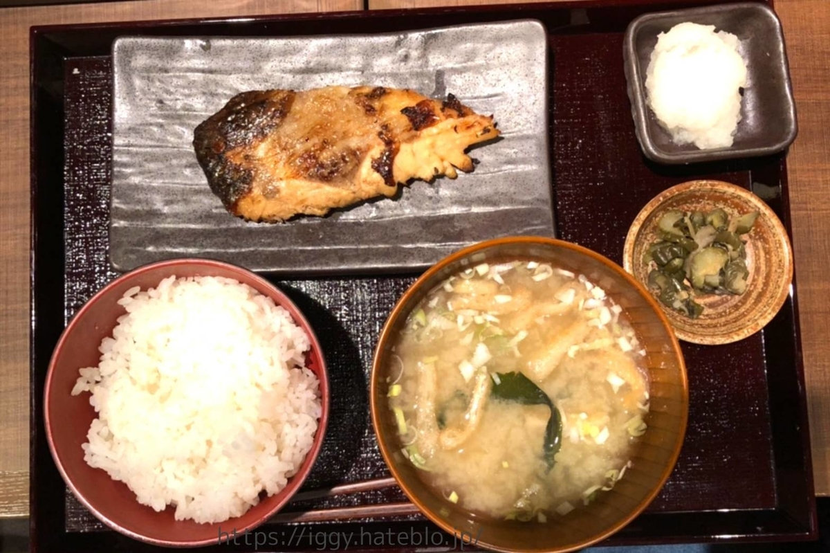 しんぱち食堂 期間限定「黒むつ照焼き定食」① LIFE
