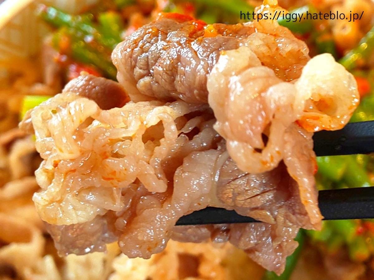 すき家 期間限定メニュー「ニンニクの芽牛丼」辛い 感想 口コミ レビュー