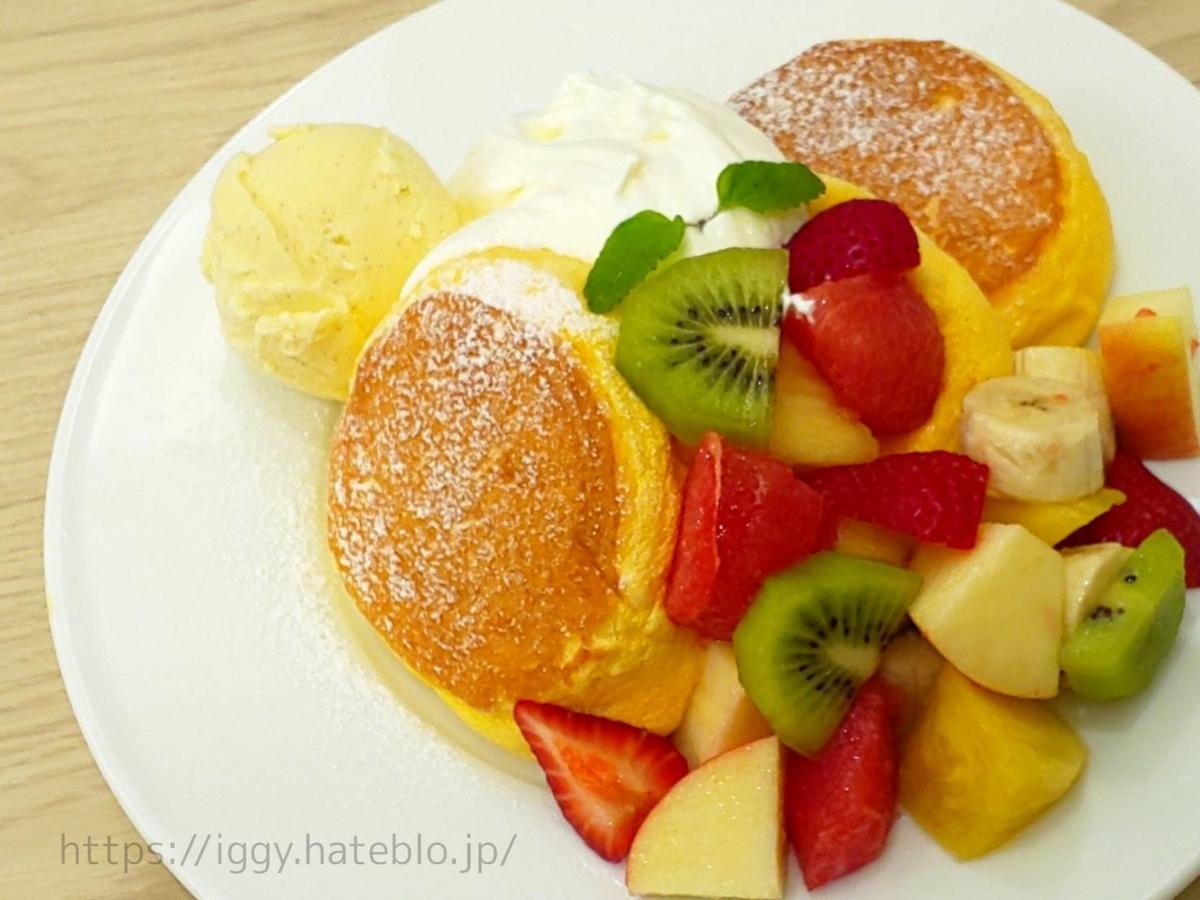 幸せのパンケーキ「季節のフレッシュフルーツパンケーキ」感想 レビュー