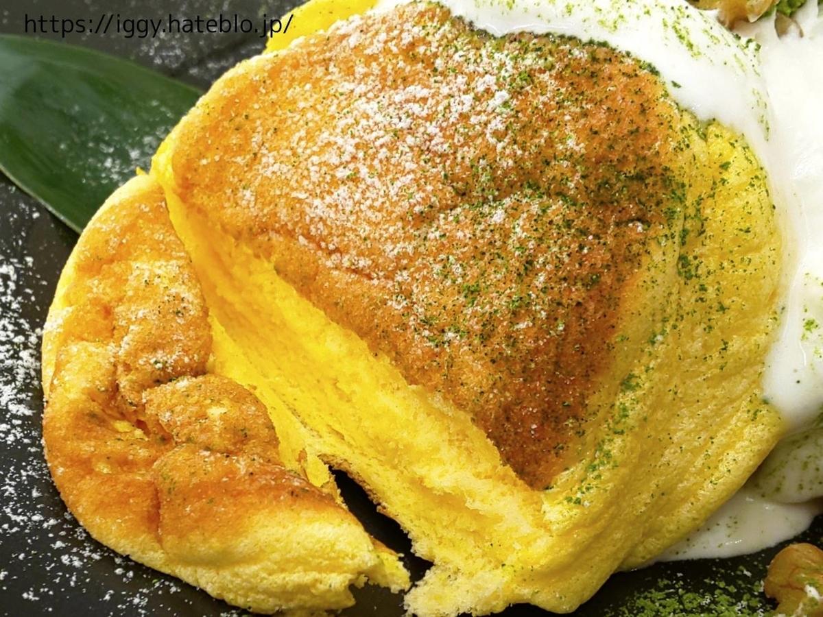 幸せのパンケーキ「宇治抹茶の濃厚ムースパンケーキ」感想 レビュー