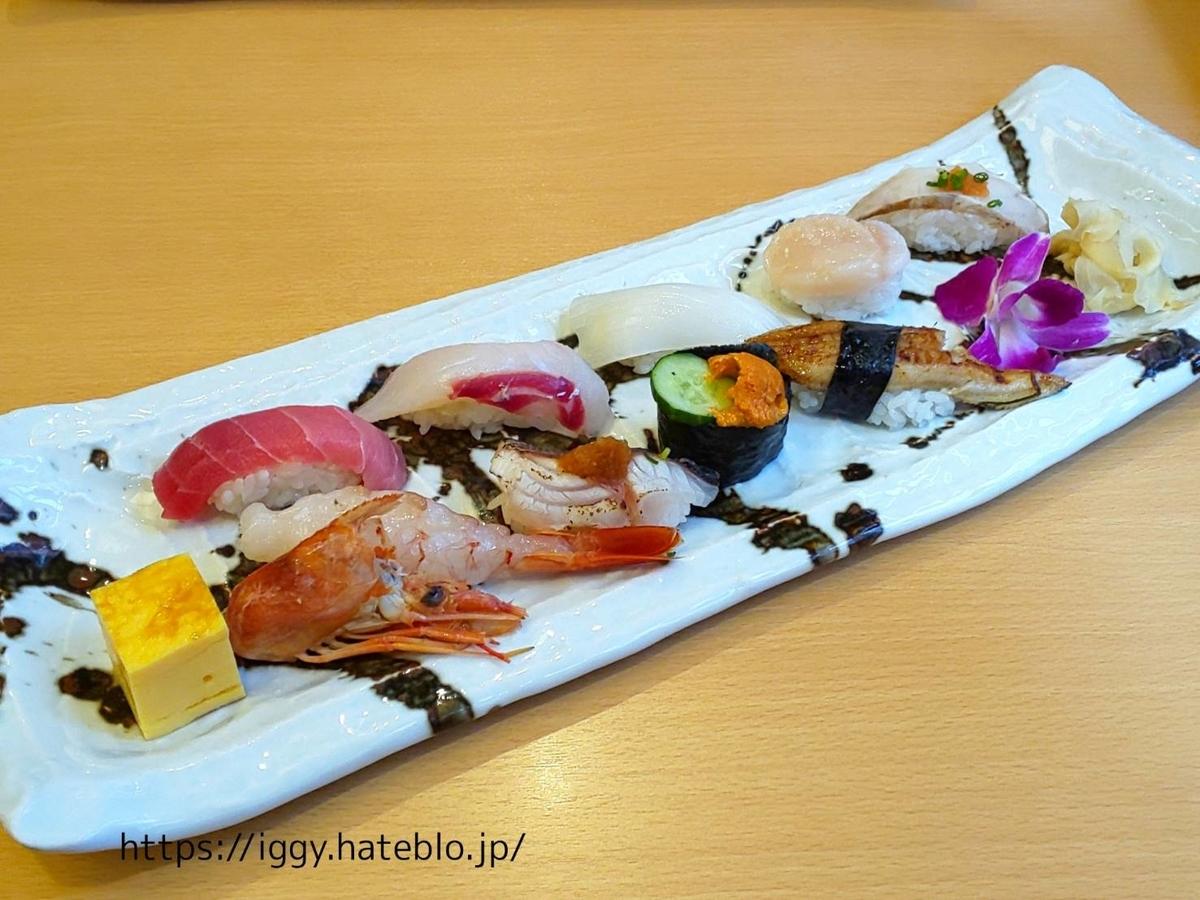 ひょうたん寿司 「旬のおまかせにぎりセット」ランチメニュー LIFE