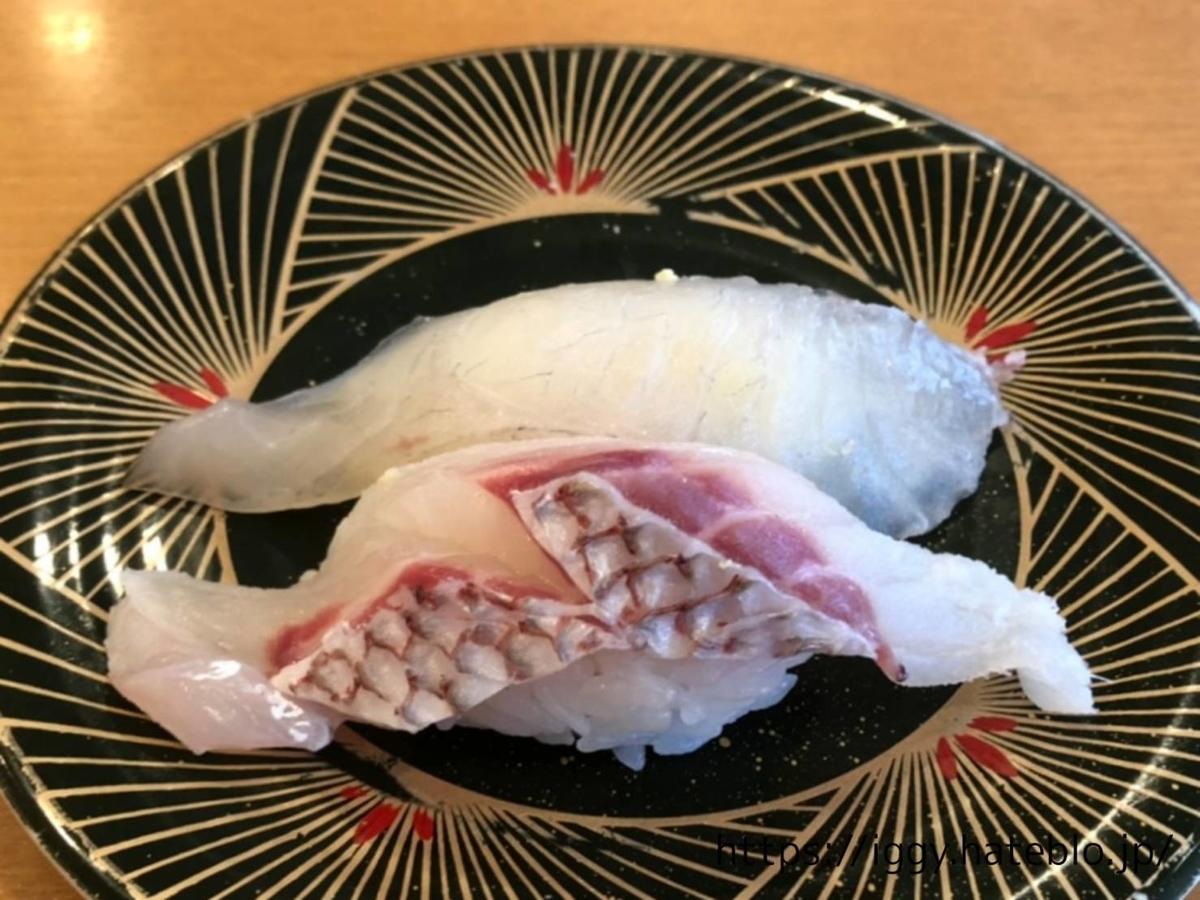 長浜鮮魚市場 「市場ずし 魚辰」活鯛200円皿 LIFE