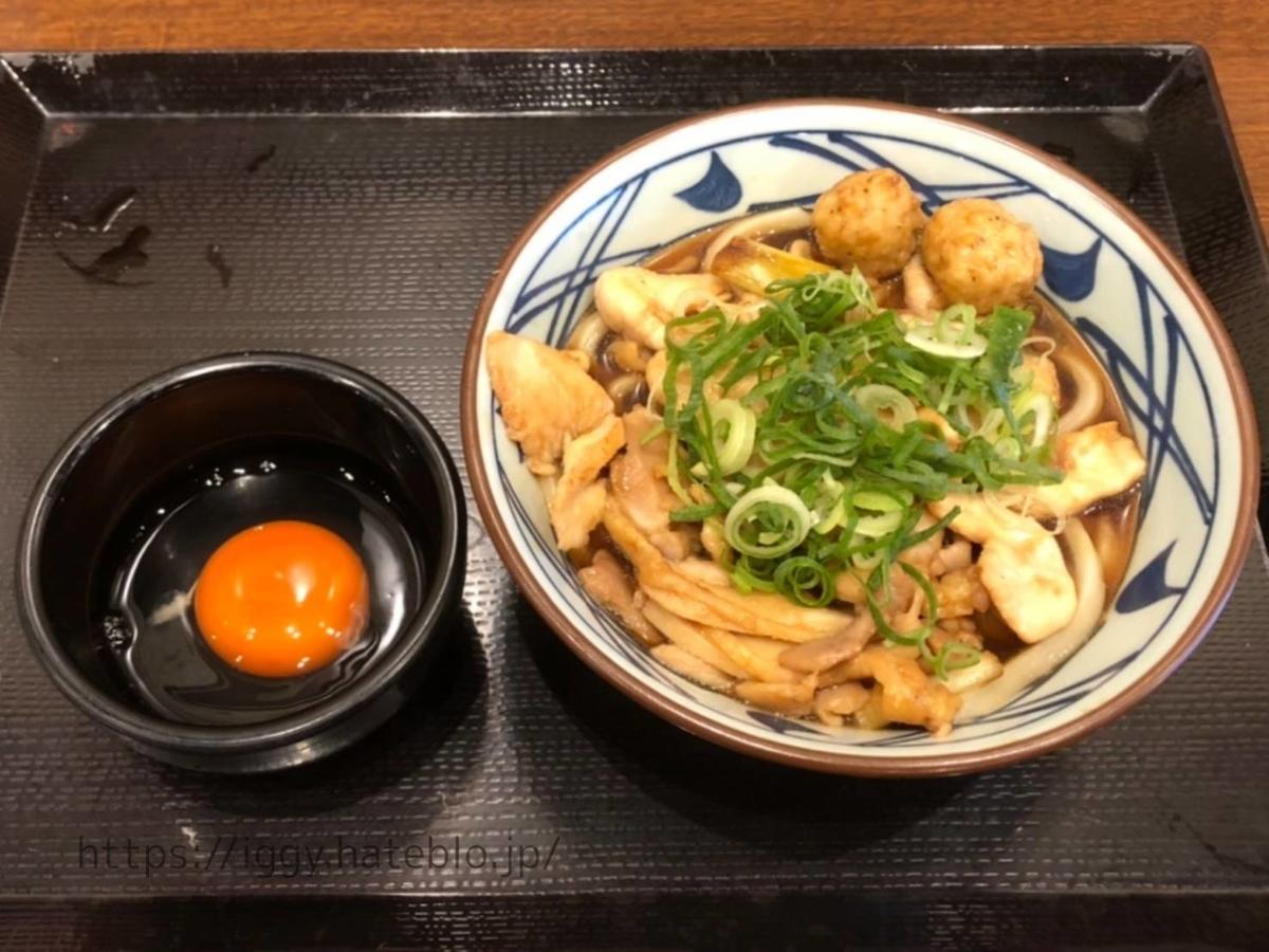 丸亀製麺 期間限定メニュー「月見鶏すき焼きぶっかけ(並)」 LIFE