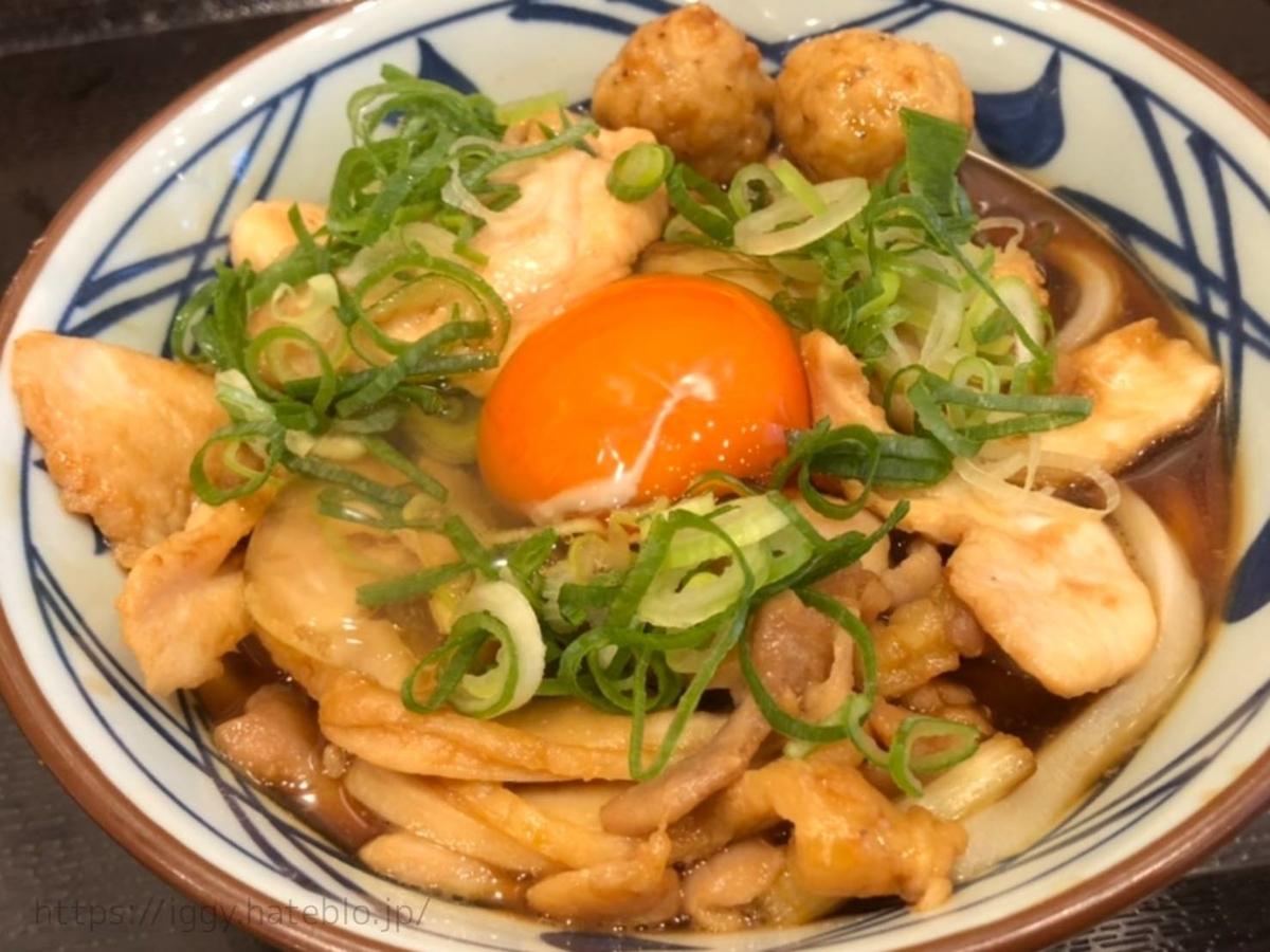 丸亀製麺 期間限定「月見鶏すき焼きぶっかけ」 LIFE