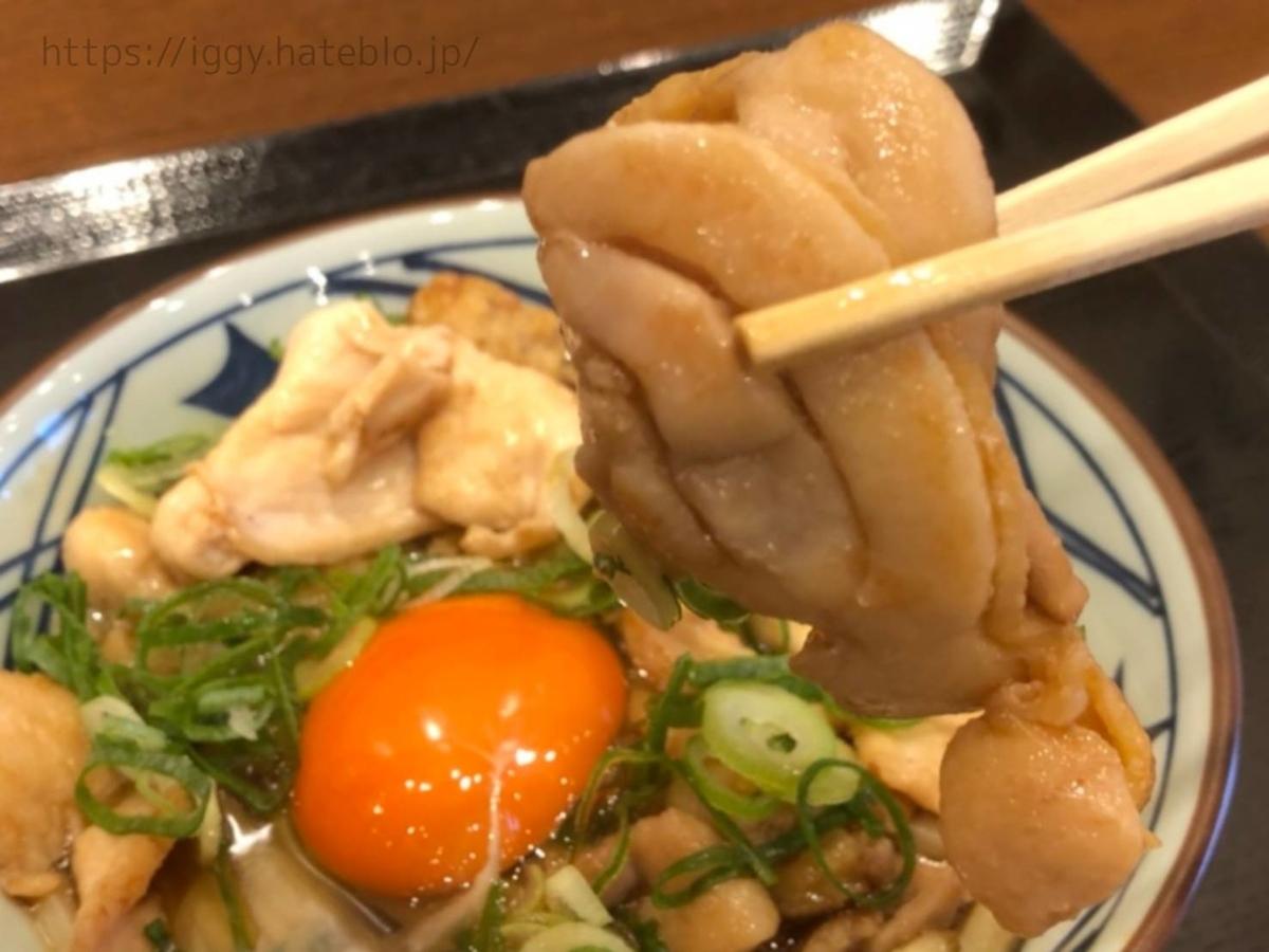 丸亀製麺 「月見鶏すき焼きぶっかけ」もも肉 LIFE