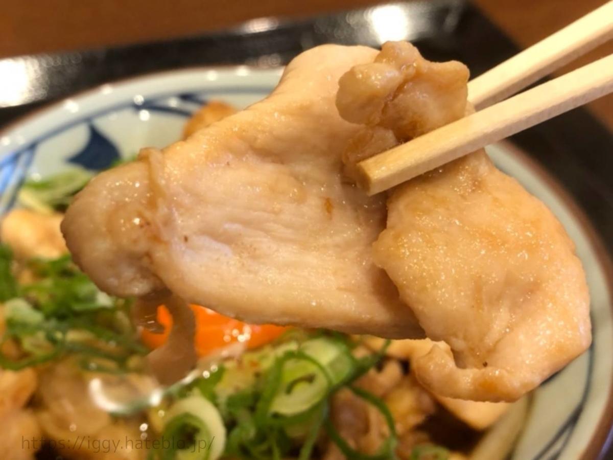 丸亀製麺 「月見鶏すき焼きぶっかけ」むね肉 LIFE