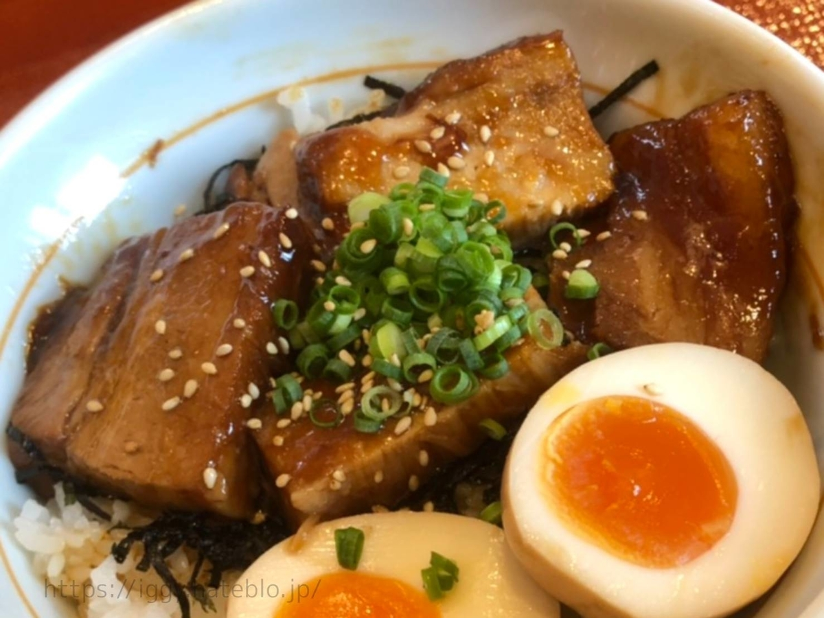 なか卯「豚角煮丼」豚の角煮5切れ LIFE