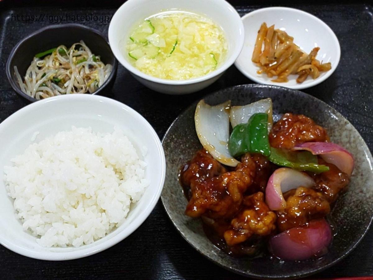 您好!朋友(ニイハオ!ポンユウ)ランチ 酢豚定食  感想 レビュー