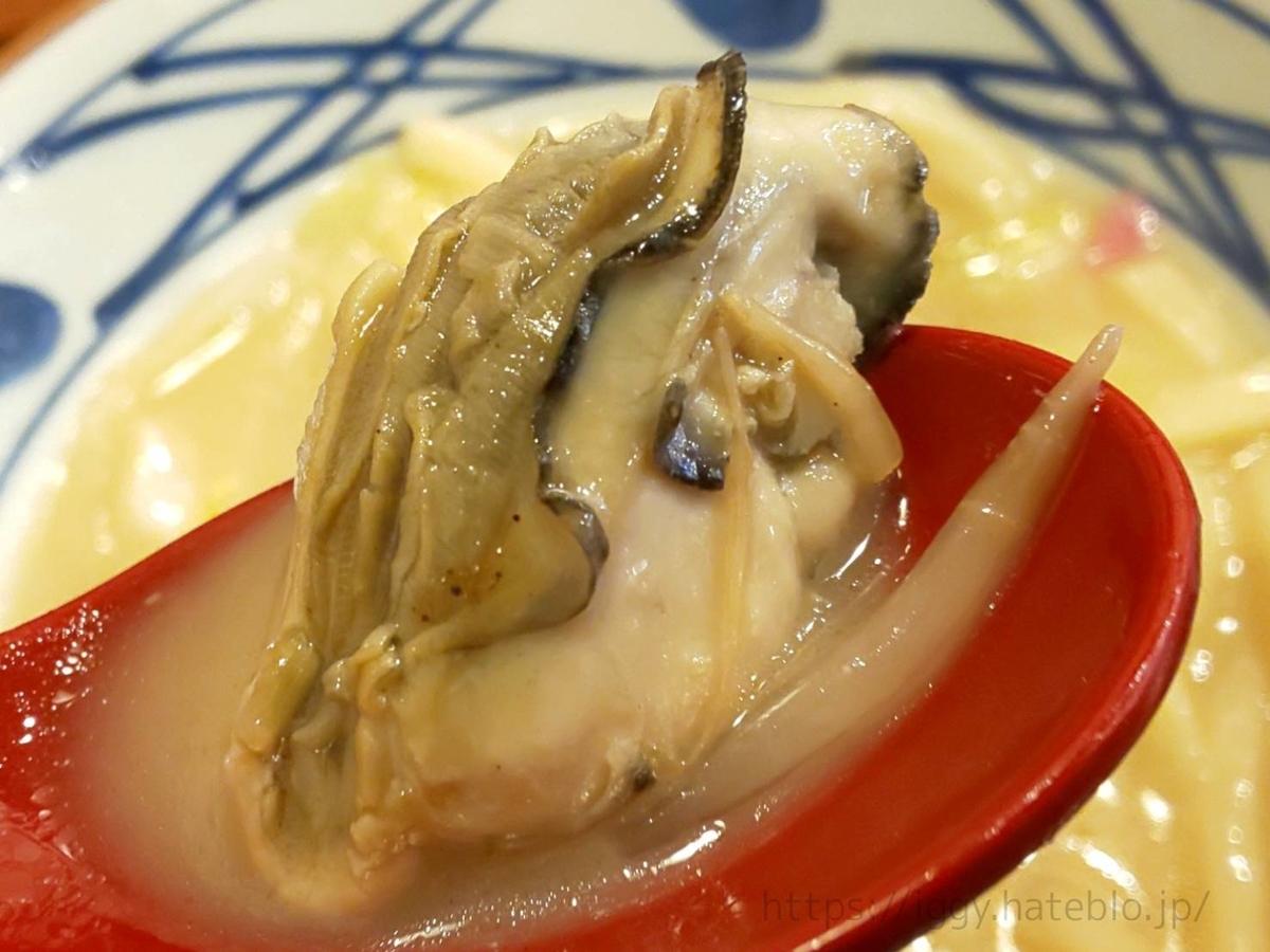 丸亀製麺 「牡蠣ちゃんぽんうどん」広島県産 浜ゆで牡蠣 感想 口コミ レビュー