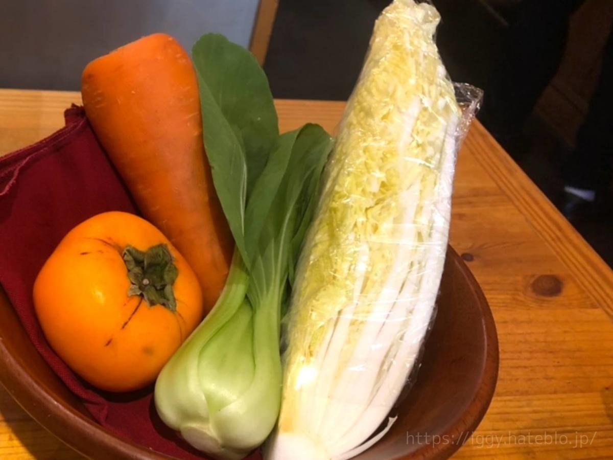 山本のハンバーグ  毎月替わりの手作り「野菜ジュース(白菜、人参、青梗菜、柿、オレンジ)」感想 レビュー