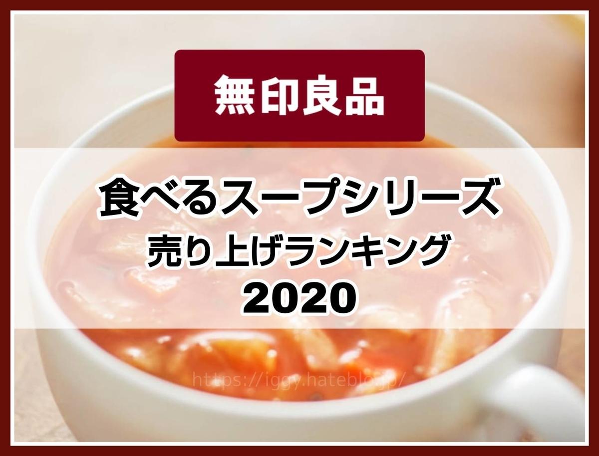 無印良品「食べるスープ」売り上げランキングトップ5 2020年