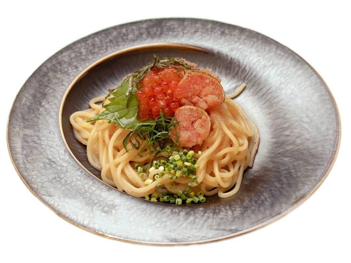 博多明太スパゲッティ Superまりお イクラと炙り明太子の和風生スパゲティ