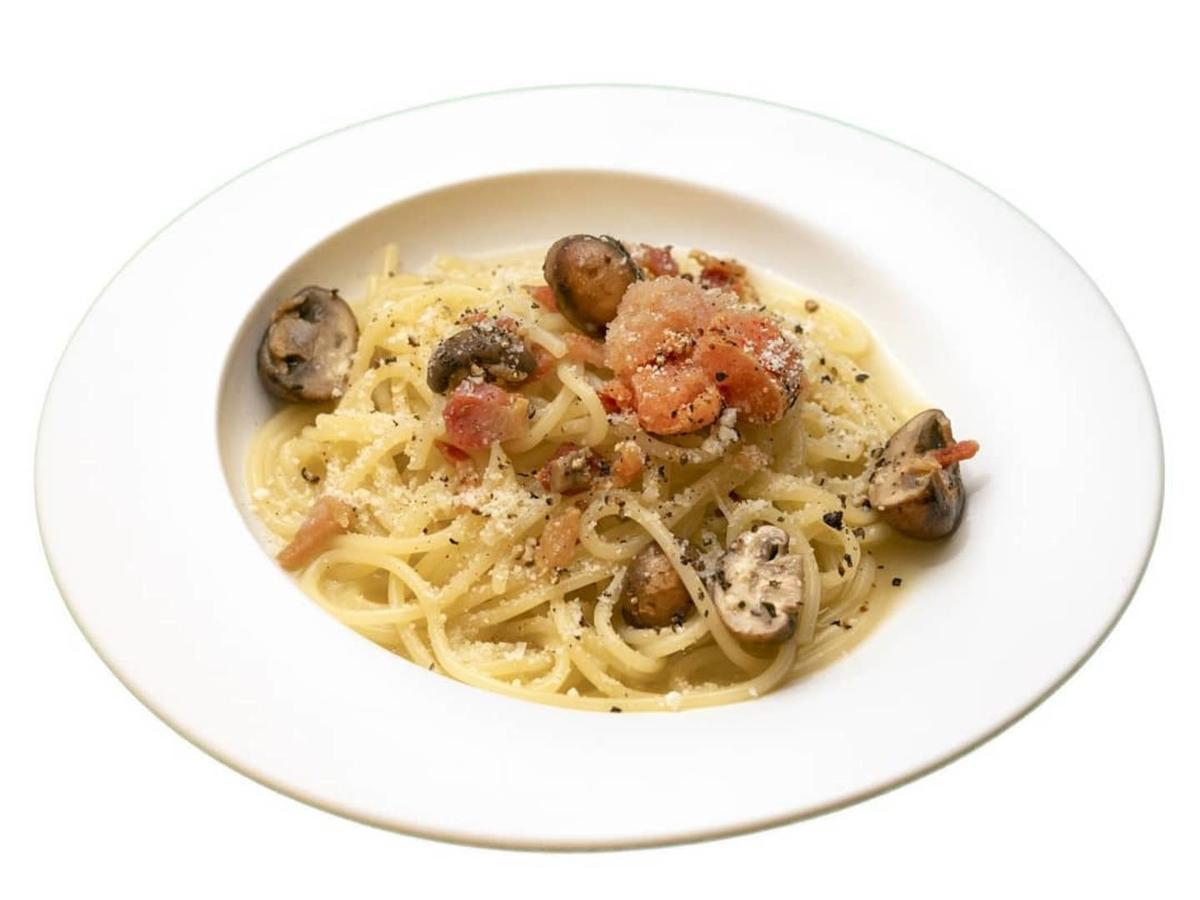 博多明太スパゲッティ Superまりお パンチェッタと明太子マッシュルームの生スパゲティ