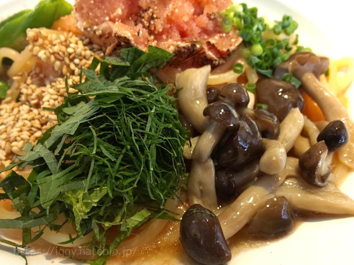 博多明太スパゲッティ Superまりお 季節の薬味をたっぷりのせた炙り明太子の和風生スパゲティ 感想 口コミ