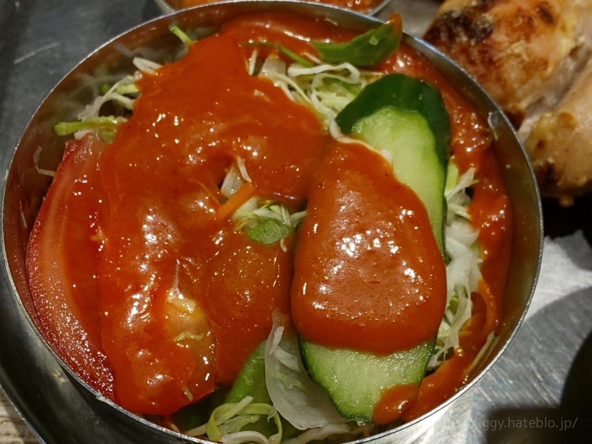 インド料理 フォーシーズン ミラン サラダ ドレッシング 感想 口コミ