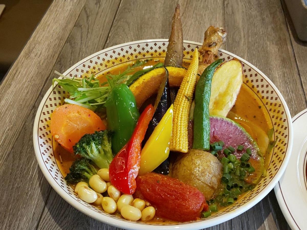 路地裏カリィ侍 おすすめメニュー チキンと1日分の野菜20品目 口コミ レビュー