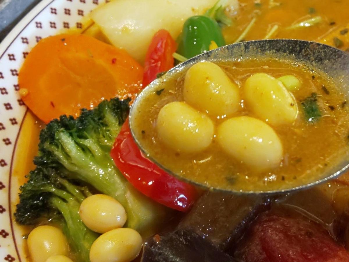 路地裏カリィ侍 チキンと1日分の野菜20品目 野菜の種類 感想 口コミ