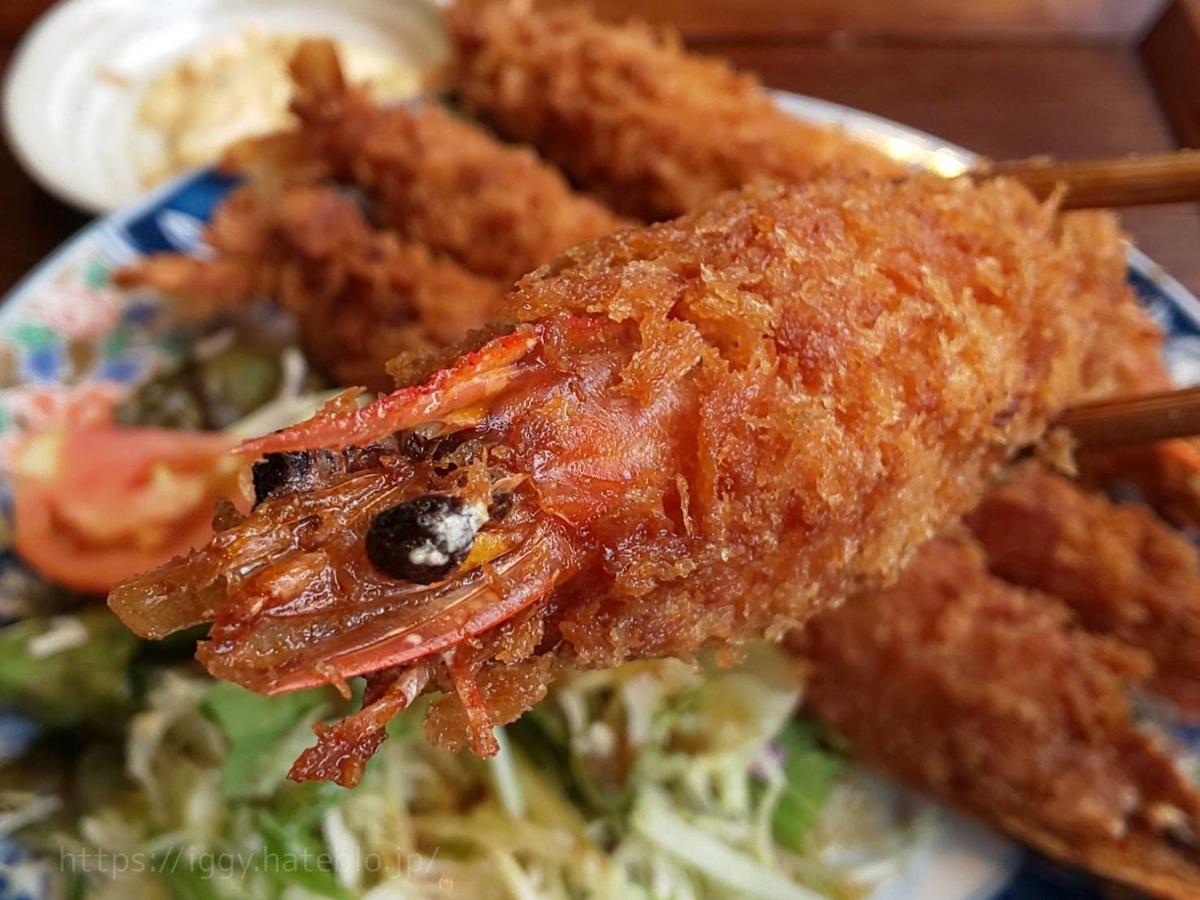 今泉キッチン 大海老フライ定食 口コミ 感想