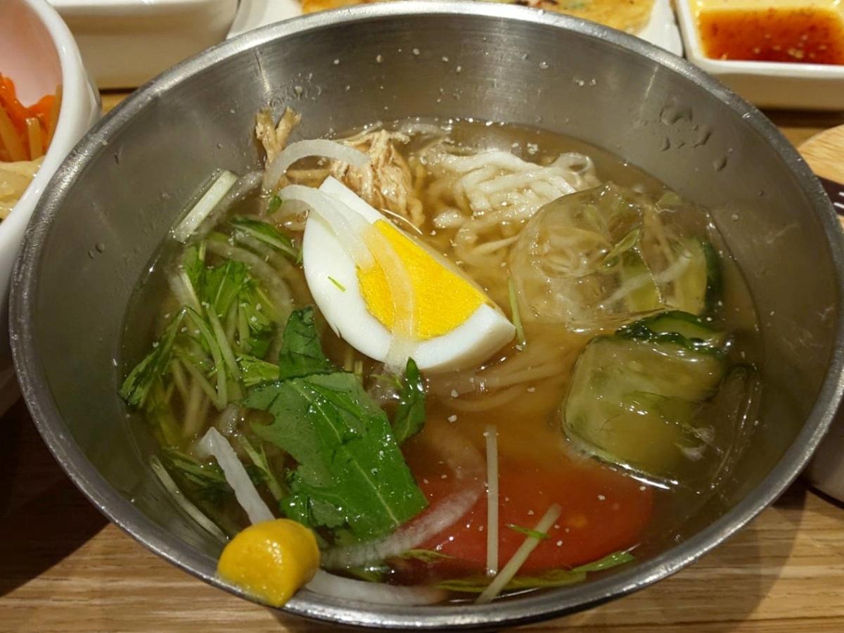 ハンビジェ ランチ「選べるハーフ&ハーフセット」冷麺 口コミ レビュー