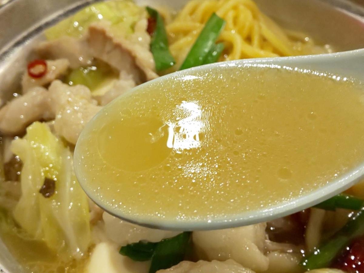ジョイフル「博多もつ鍋定食」スープ 感想 口コミ レビュー