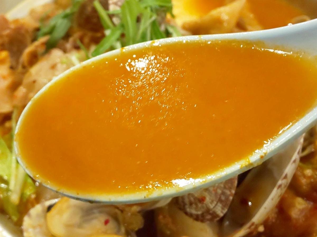 ジョイフル「あさりたっぷりコク旨バターチゲ定食」スープ 口コミ レビュー