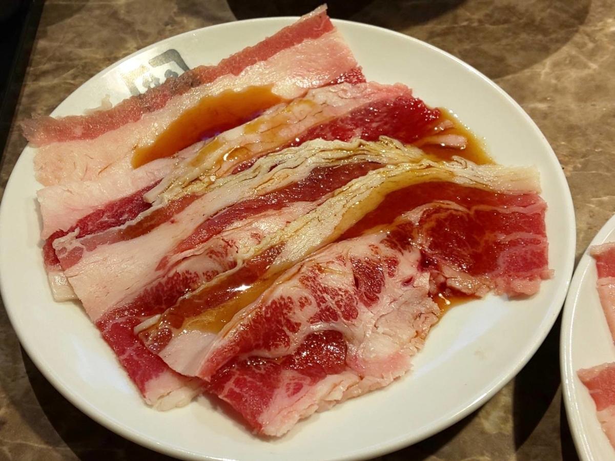 牛角 早割焼肉食べ放題 牛バラトロカルビ 口コミ レビュー