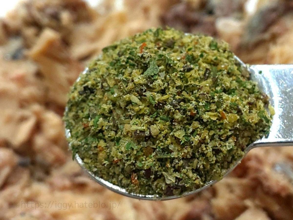 カルディ「さば缶に混ぜるだけ3種のパテの素」ガーリックソルト原材料 カロリー・栄養成分 口コミ レビュー