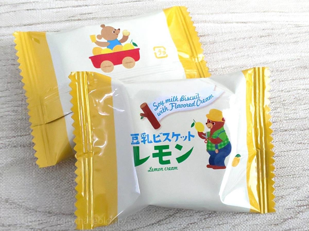 カルディ おすすめ お菓子 豆乳ビスケット レモンクリーム 原材料 カロリー・栄養成分