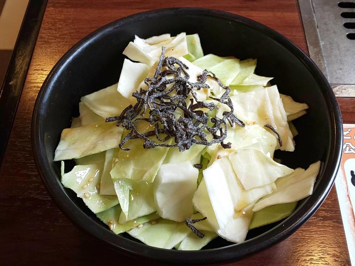 どんどん亭 お好み焼き 食べ放題 キャベツの塩昆布サラダ 口コミ レビュー