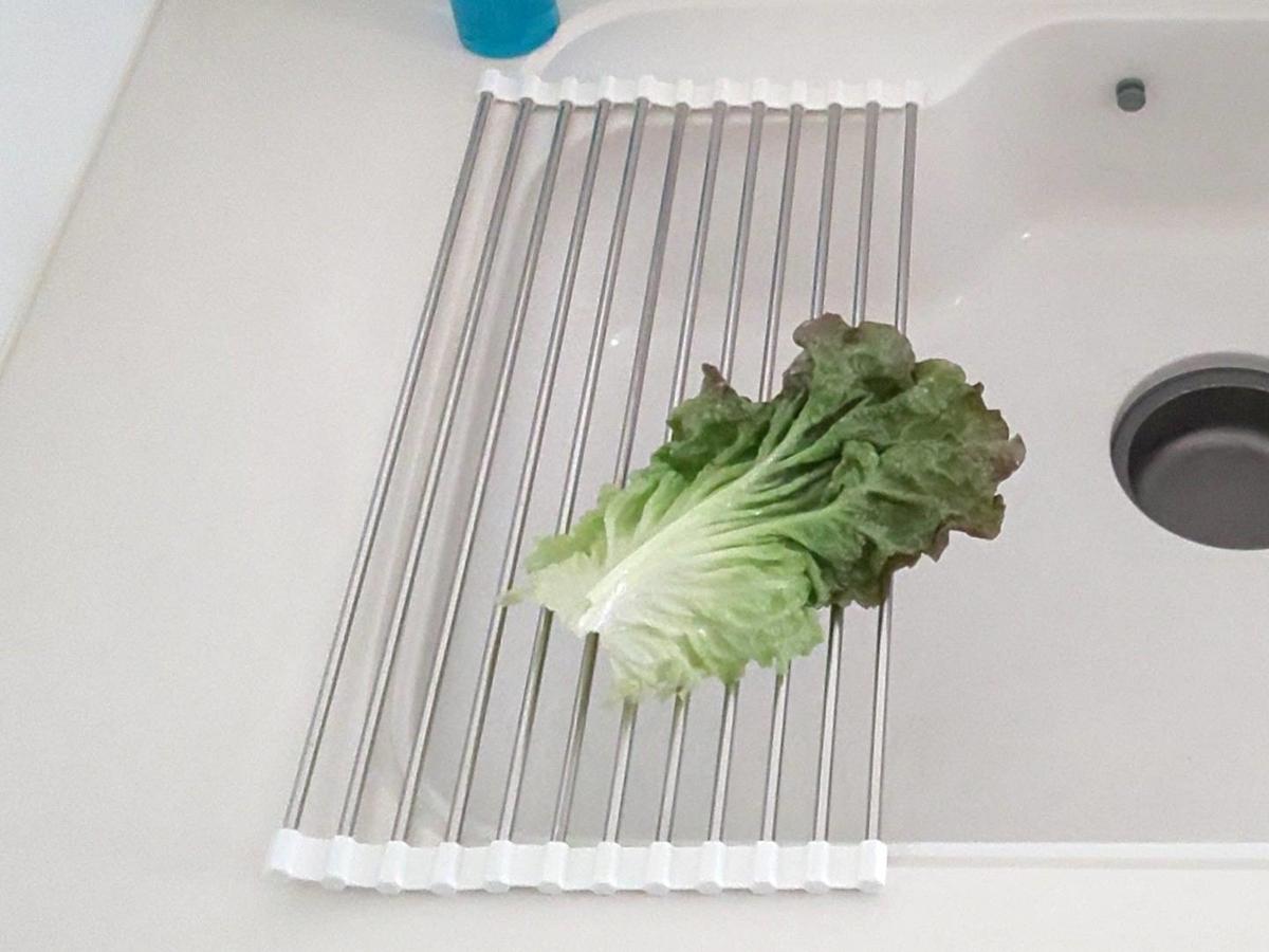 3COINS スリーコインズ キッチン 巻き巻き水切り 食器 野菜 おすすめ 口コミ レビュー