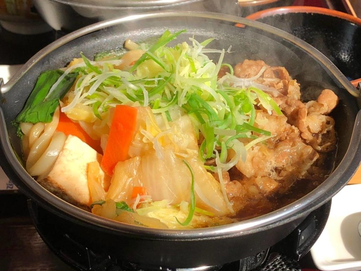 すき家 贅沢薬味の葱生姜牛すき鍋定食 具 口コミ レビュー