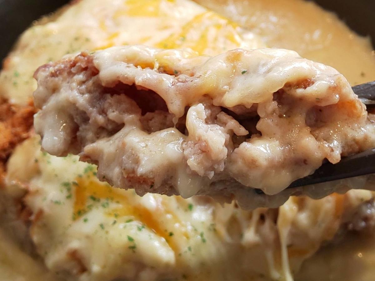 松のや 松屋とコラボ シュクメルリチーズBigメンチハンバーグ定食 感想 口コミ レビュー