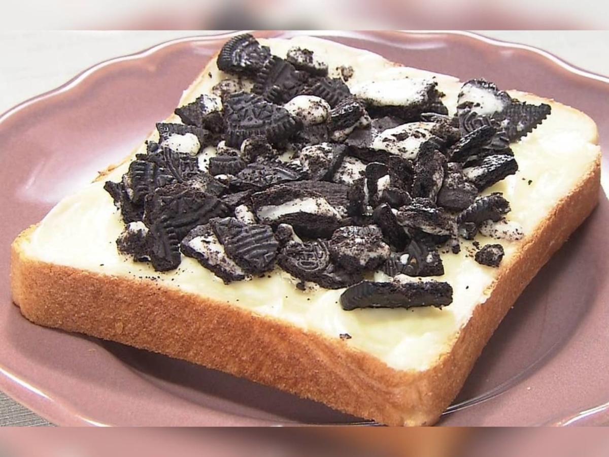 家事ヤロウ トーストレシピ オレオチーズケーキトースト 材料 作り方 パン祭り