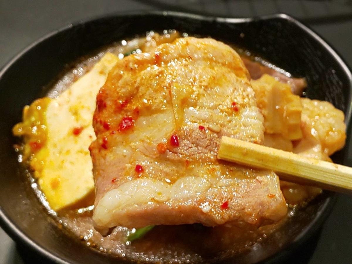 焼肉たむら×焼鍋肉たむら たむほる鍋 豚肉 キムチ 感想 口コミ レビュー